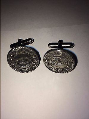 Harold II Penny Coin WC4A  Pair of  Cufflinks Made From English Modern  Pewter