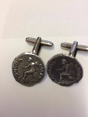 Denarus Of Vitellius Coin WC5A  Pair of  Cufflinks Made From English Pewter