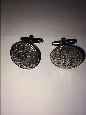 York Silver Penny Coin WC6A  Pair of  Cufflinks Made From English Morden Pewter