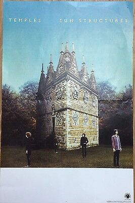 """TEMPLES Promotional Poster For Sun Structures Album 11""""x17"""""""