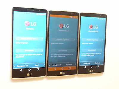Lot of 3 LG G4 Stylus H635C Claro 8GB Gold Smartphones All Power On AS-IS GSM