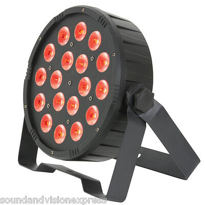 QTX PAR56 High Power RGB LED Par-Can Spot Light + Uplight Band Theatre Stage DMX