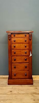 Stunning Antique Victorian Mahogany Wellington Chest Of Drawers..........