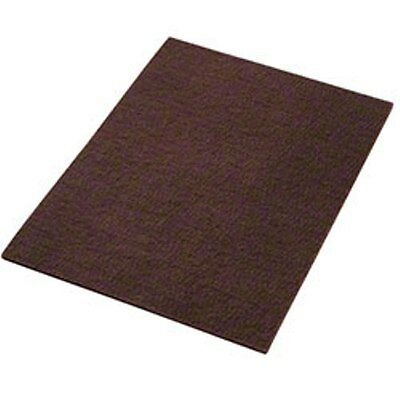 "12"" x 18"" Rectangular Maroon Wood Prep Floor Pad, 10 per case"