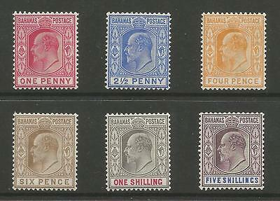 Bahamas Sg62-9 The 1902-10 Evii Set To 5/-  Fresh Lightly Mounted Mint C.£155