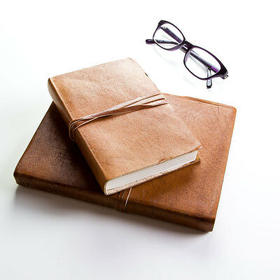 Handmade Rustic Style Journal/Notebook - Tanned Leather (FSIndianJRNA6)
