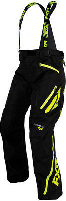 FXR Mens Black Heather/Hi-Vis Snowmobile Mission X Pants Snocross