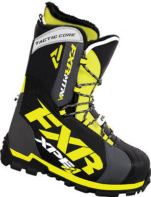 FXR Mens Black Snowmobile Tactic Core Boots Snocross