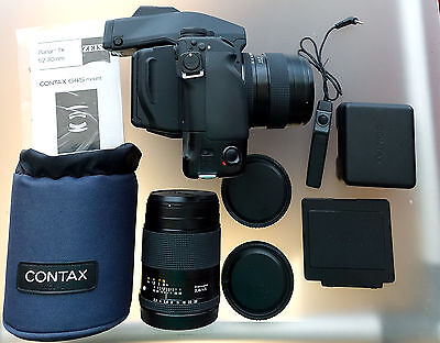 Contax 645 Kamera  SET MIT PLANAR 2/80 , 2,8/45, MP-1, MF-1 + MFB-1