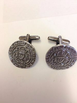 Henry VI Half Groat Coin WC13A  Pair of Cufflinks Made From English  Pewter