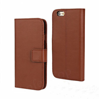 Genuine Leather flip Wallet Slim Case Stand CoverFor New Samsung Galaxy S5 mini