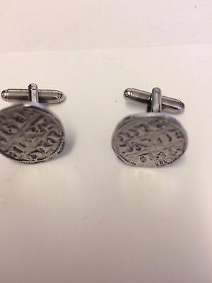 Richard I Penny Coin WC14A  Pair of Cufflinks Made From English  Pewter