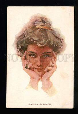 043395 Rings on her Fingers By Philip BOILEAU old FINNISH RARE