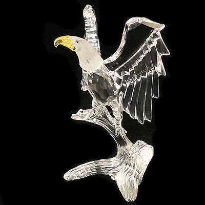"BALD EAGLE Swarovski Crystal 5"" tall NEW IN BOX Made in Austria #248-003"
