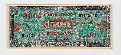 France - 1944, 500 Francs  WWII  military certificate