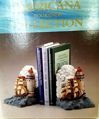 Americana Bookends Collection Lighthouse At The Beach