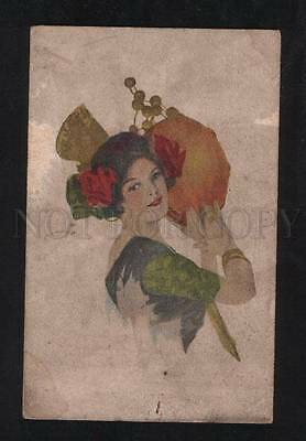 068983 Dancer TAMBOURINE by FISHER Rare AT POLYPHOT Finnish
