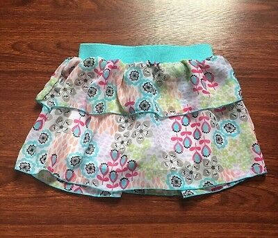 KidsRus Toddler Girls Floral Ruffled Skirt (skort) Size 3T