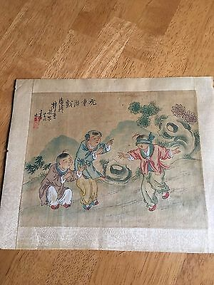 Signed Antique Chinese Silk Painting 19Th Century #2
