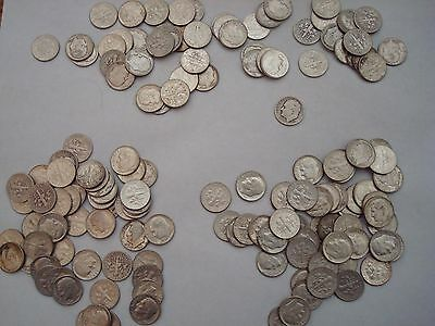 1 Full Roll of Roosevelt Dimes (50 coins) - 90% SILVER!! Mixed Dates