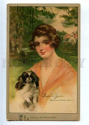 233563 Girl JAPANESE CHIN by Frederick DUNCAN Vintage R&N #934