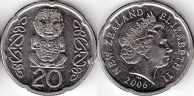 2006 New Zealand 20 cent coin