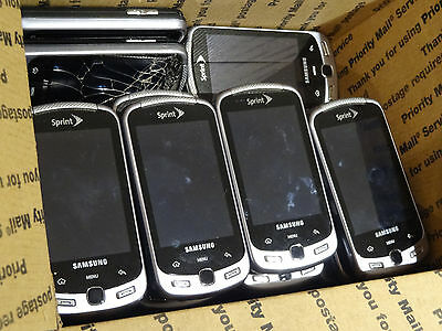 Lot of 20 Samsung Moment SPH-M900 Sprint Smartphones Most Power On AS-IS