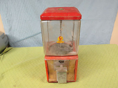 Vtg Embossed Northwestern Morris Illinois Model 60 5Cent Gumball Peanut Machine