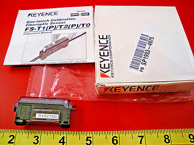 Keyence FS-T0 Photoelectric Fiber Optic Sensor FS-TO Amplifier FST0 Nib New