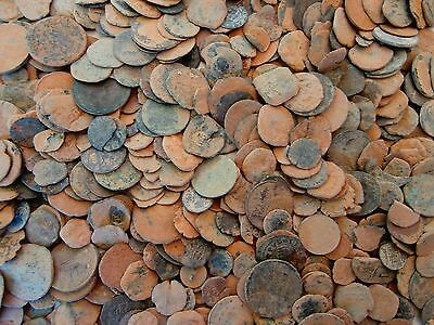 1 = Lot of 30 Spanish coins to clean and classify