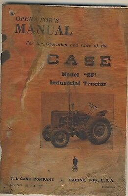 "Case Model ""SI"" Industrial  Tractor Operators Manual - Original Factory"