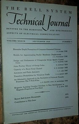 The bell system technical journal 1960