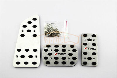 Aluminium Car Fuel Brake Foot Rest Pedals Cover Plate Fit For Toyota Corolla AT