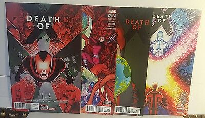 Death Of X #1-4 Complete Set First Print Nm