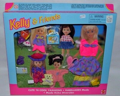 Nib-Barbie-Kelly And Friends Cute N' Cool Fashions-Lots Of Accessories-Lunch Box
