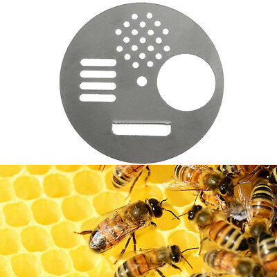 1Pc Stainless Steel Bee Hive Nuc Box Entrance Gates Beekeeping Equipment Tools