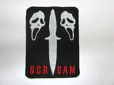 Scream mask patch scream horror badge Iron/sew on applique