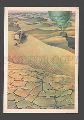 096208 BALLOON in Desert Africa by Jules Verne Old Russian PC
