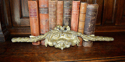 Antique French Bronze Ormolu Large Bow Pediment