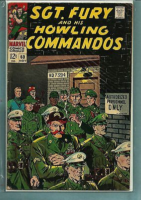 SGT FURY AND HOWLING COMMANDOS 60 SILVER Age NICE VG !