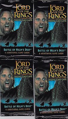 2004 Decipher Lord Of The Rings Wax Pack Lot Of 4 Packs Unopened-Battle Of Helms