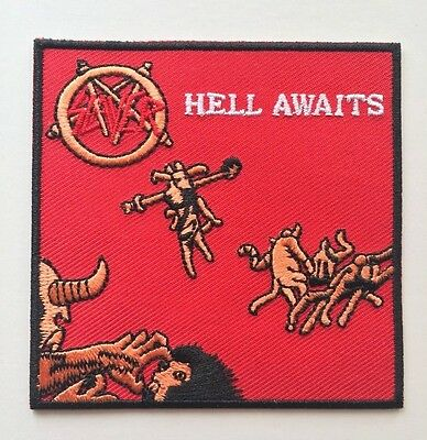 Slayer Hell Awaits Embroidered Patch Iron on or Sew on