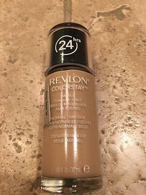 Revlon 24 hrs Colorstay Makeup Normal/Dry Skin #220 NATURAL BEIGE - 1 oz,SEALED!