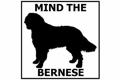 Mind the Bernese - Gate/Door Ceramic Tile Sign