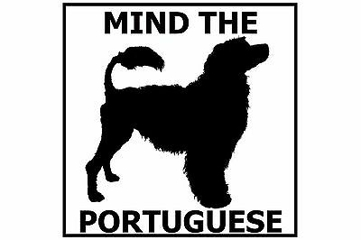 Mind the Portuguese Water Dog - Gate/Door Ceramic Tile Sign