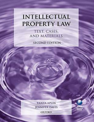 Intellectual Property Law: Text, Cases, and Materials-ExLibrary