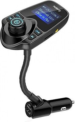 FM Transmitter , Nulaxy Wireless In-Car Bluetooth FM Transmitter Radio Adapter
