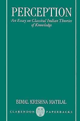 Perception: An Essay on Classical Indian Theories of Knowledge-ExLibrary