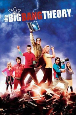 WARNER BROTHERS THE BIG BANG THEORY AUGMENTED REALITY POSTER 22x34 NEW FREE SHIP