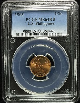 1903  US-Philippines 1/2 centavos   PCGS MS64RB - lot #3
